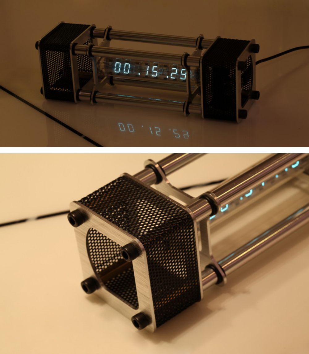 Unassembled IV-18 Fluorescent Tube Clock Kit DIY 6 Digital Display Energy Pillar With Remote Control
