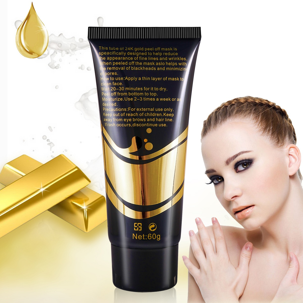Gold Collagen Peel Off Facial Mask Blackhead Removal