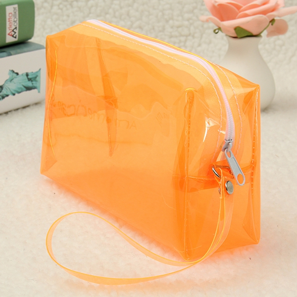 6 Colors Large Capacity Plastic Transparent Cosmetic Makeup Bag Case Zip Pouch Neat Organizer