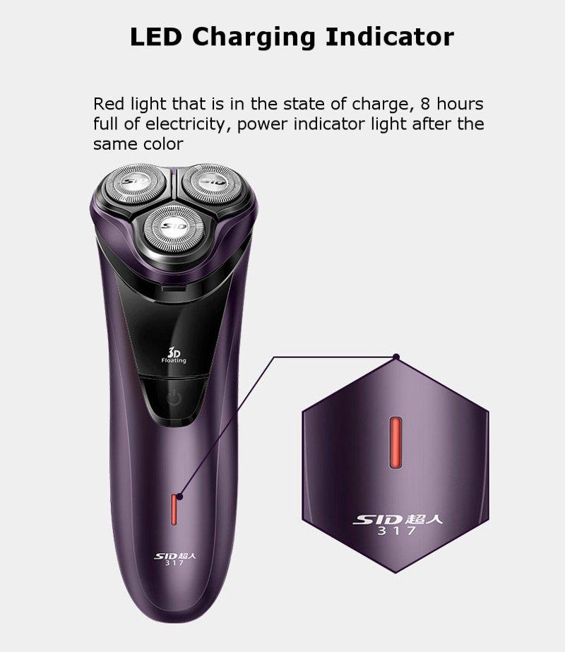 SID RS317 Intelligent Portable Double Ring Veneer Knife Net Waterproof Razor Six Functions