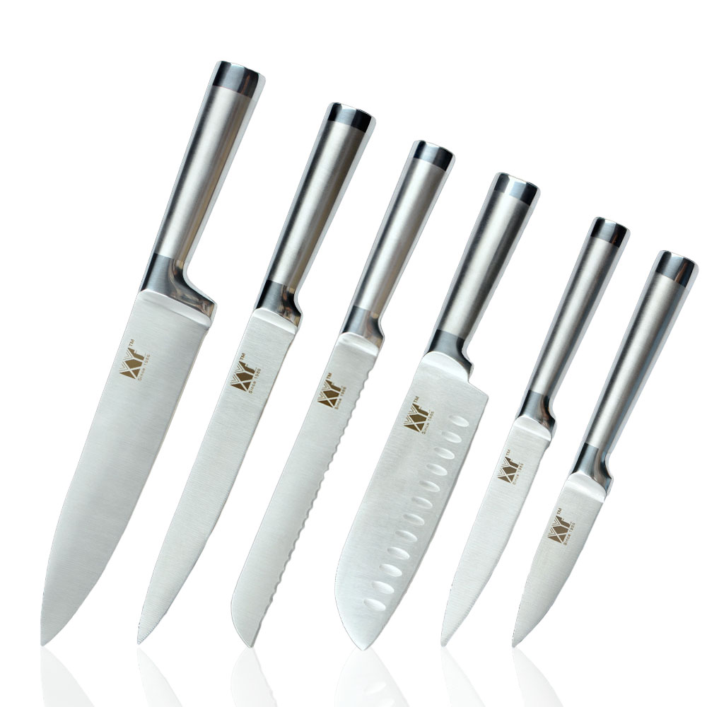 XYJ Top Quality 6 Types Stainless Steel Knife Fruit Veg