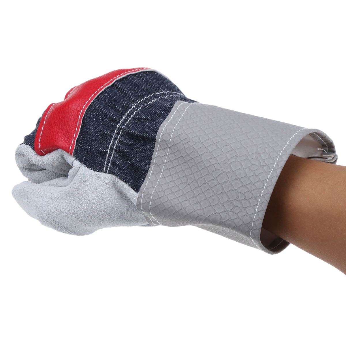 Heavy Duty Mens Leather Gardening Gloves Workplace Safety Security Protection