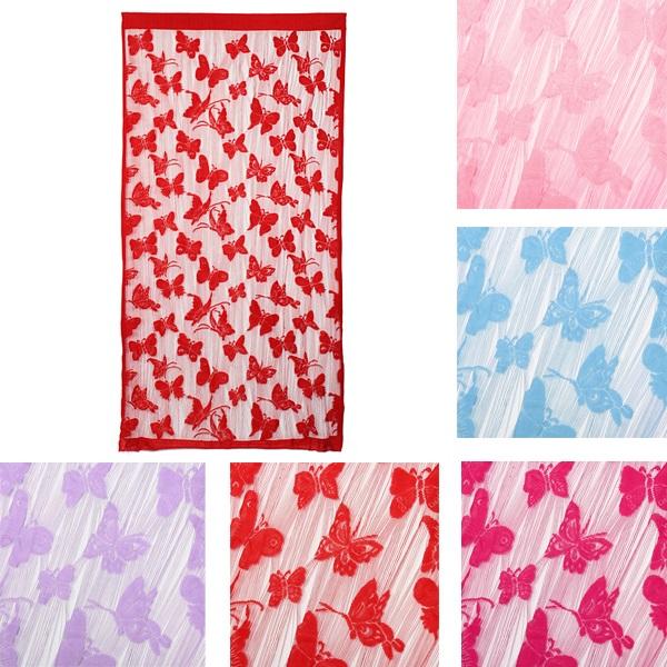 1mx2m Butterfly String Curtain Tassel Drape For Wall Vestibule Door Window Home Decor
