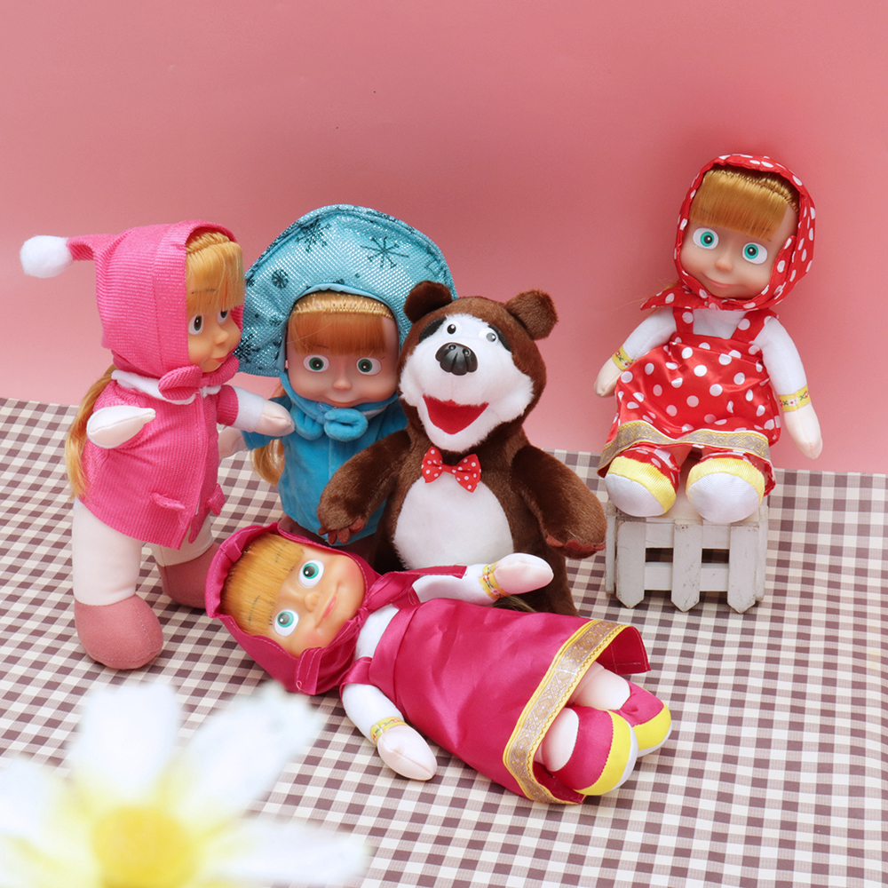Winter MASA BEARS Cartoon Plush Stuffed Toys Kids Gift