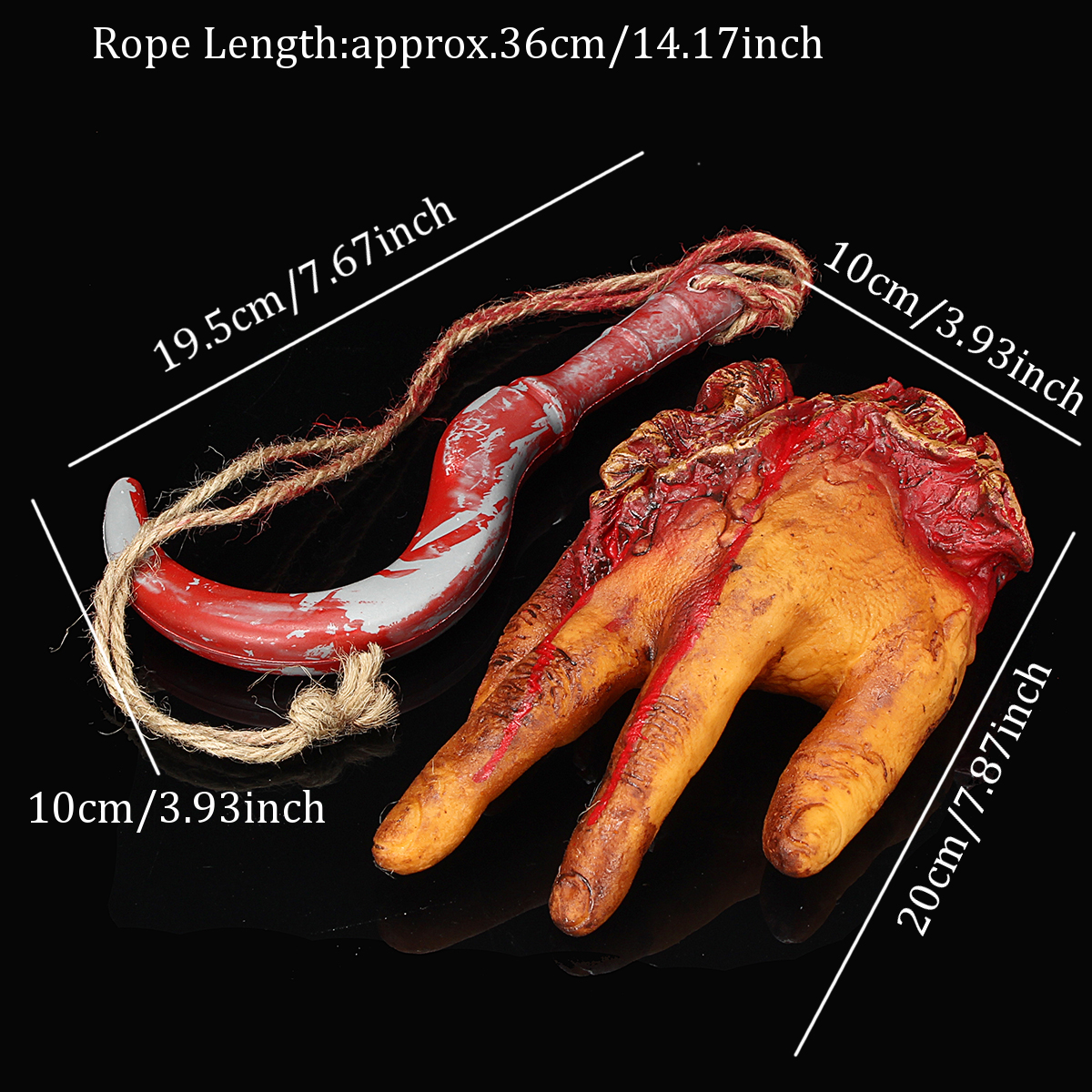 Horror Halloween Decorations Severed Body Part Limbs Haunted Party Props Bloody Decorations