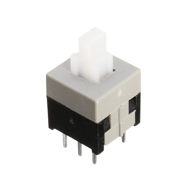 100pcs 8.5 x 8.5mm Touch Self-locking Toggle Switch Double Row Six Feet Straight