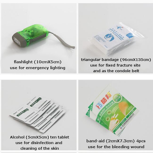 Car Travel First Aid Bag Small Medical Box Emergency Survival Kit Portable Travel Outdoor