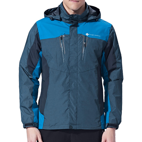 Mens Patchwork Waterproof Breathable Thin Outdoor Jacket
