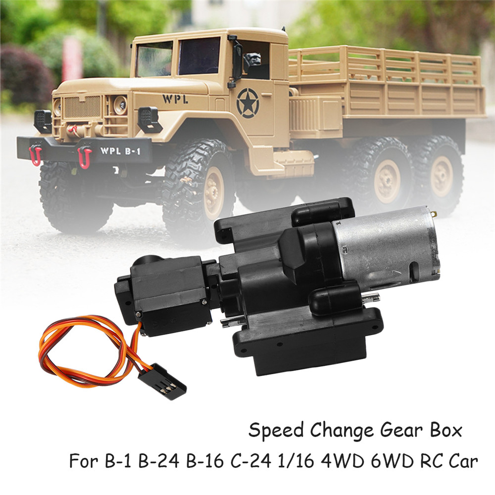 WPL Speed Change Gear Box For WPL B1 B24 B16 B36 C24 1/16 4WD 6WD Rc Car