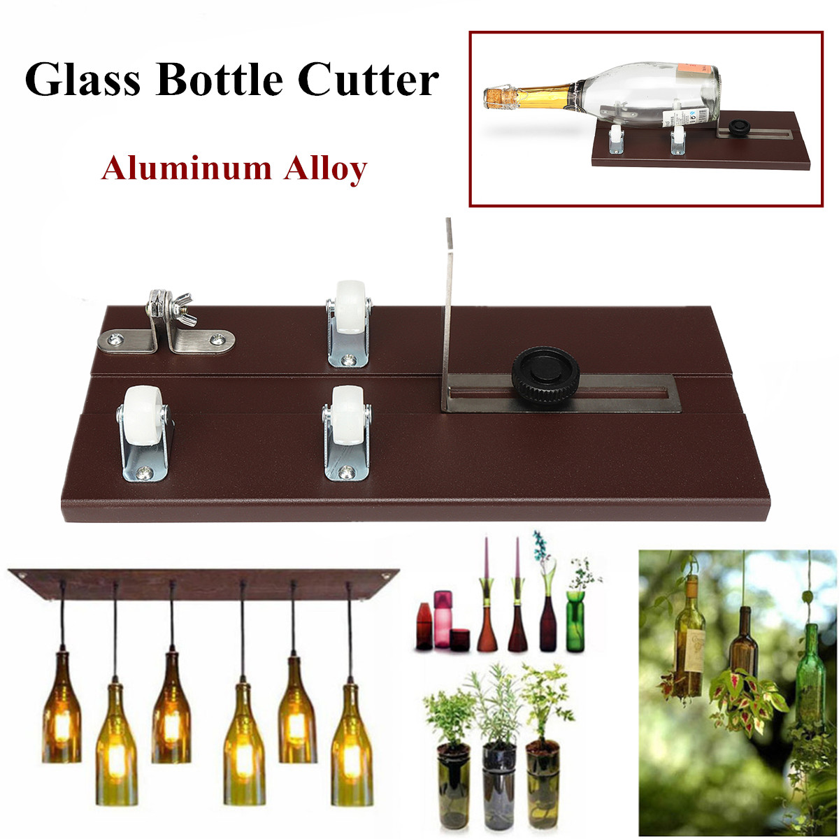 Glass Beer Wine Bottle Jar Cutter Scoring Machine DIY Recycle Cutting Tool Kit