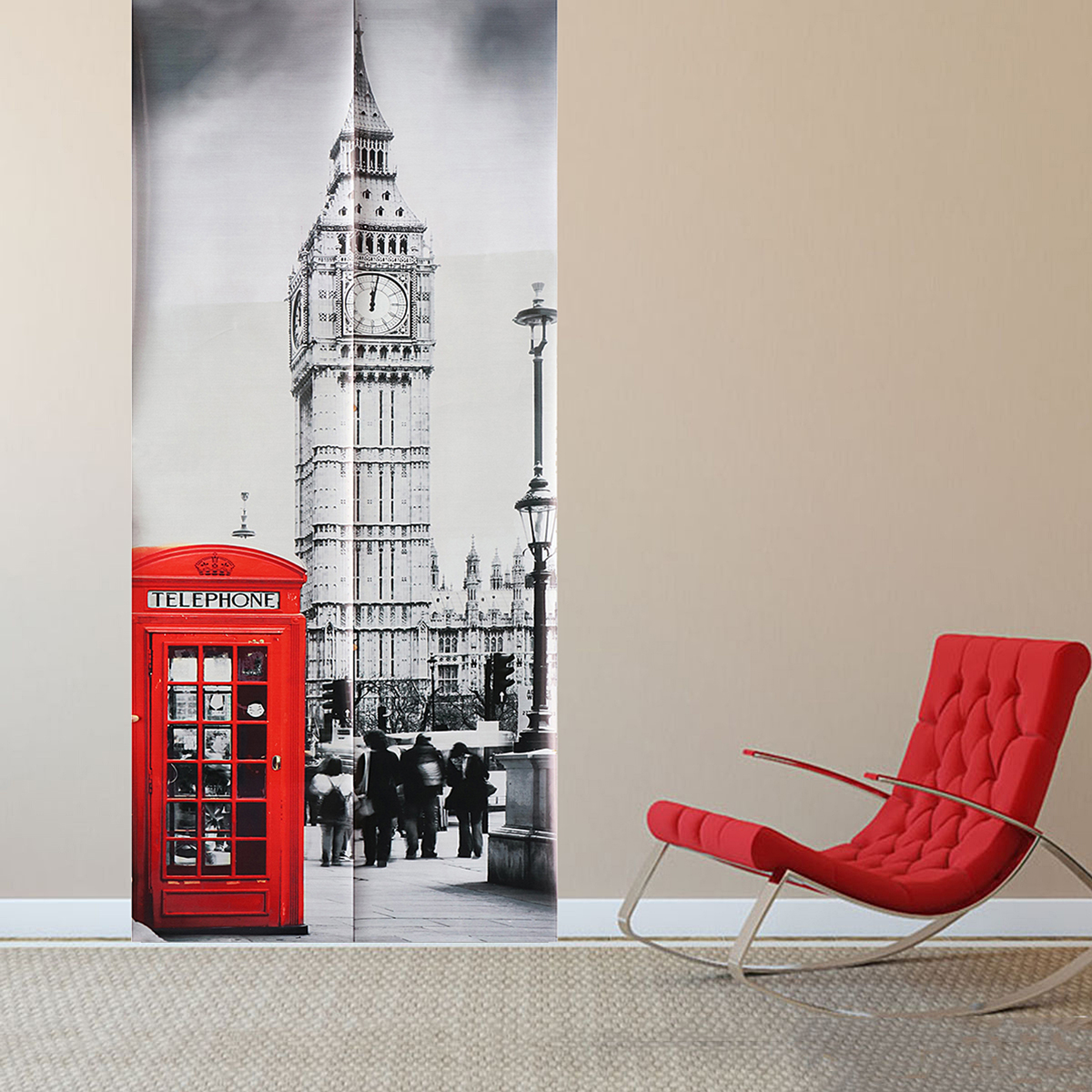 3D Art Door Wall Fridge Sticker Big Ben Decal Self Adhesive Mural Scenery Home Decor