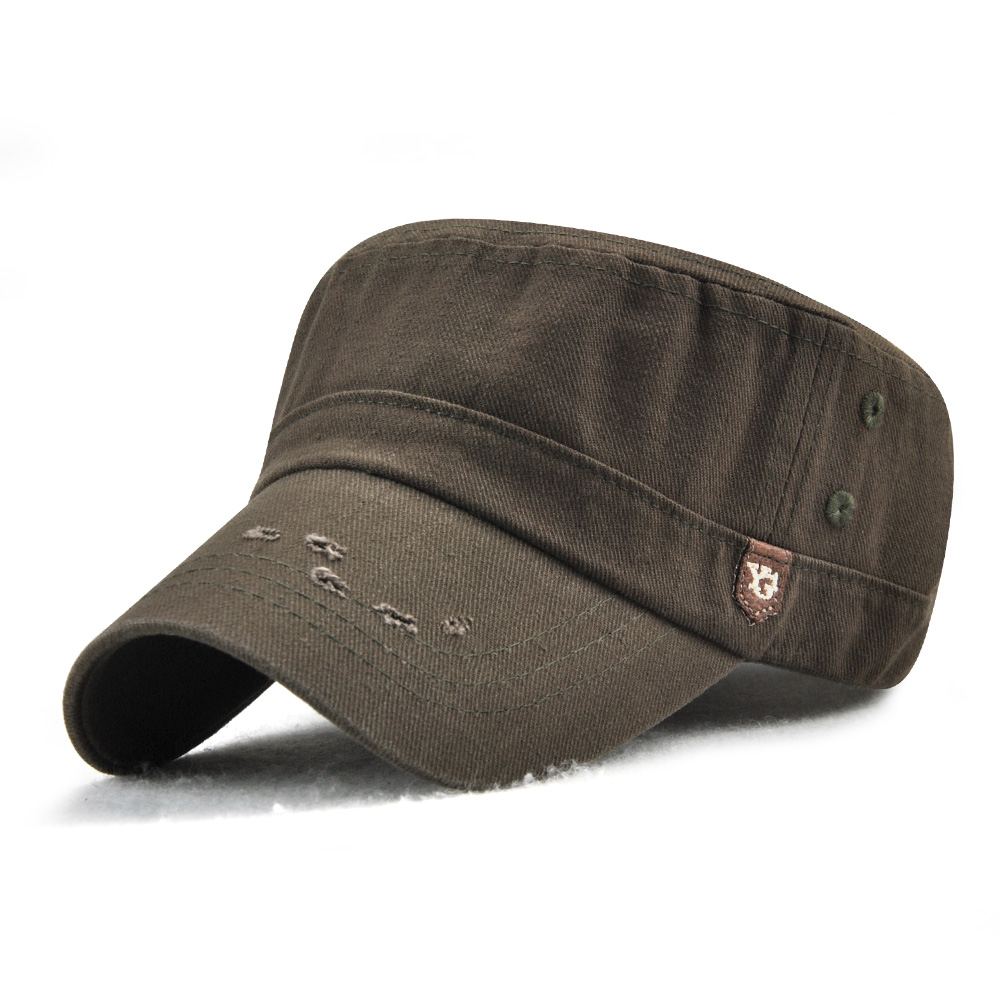 Dad Adjustable Military Flat Hats Outdoor Cotton Peaked Cap