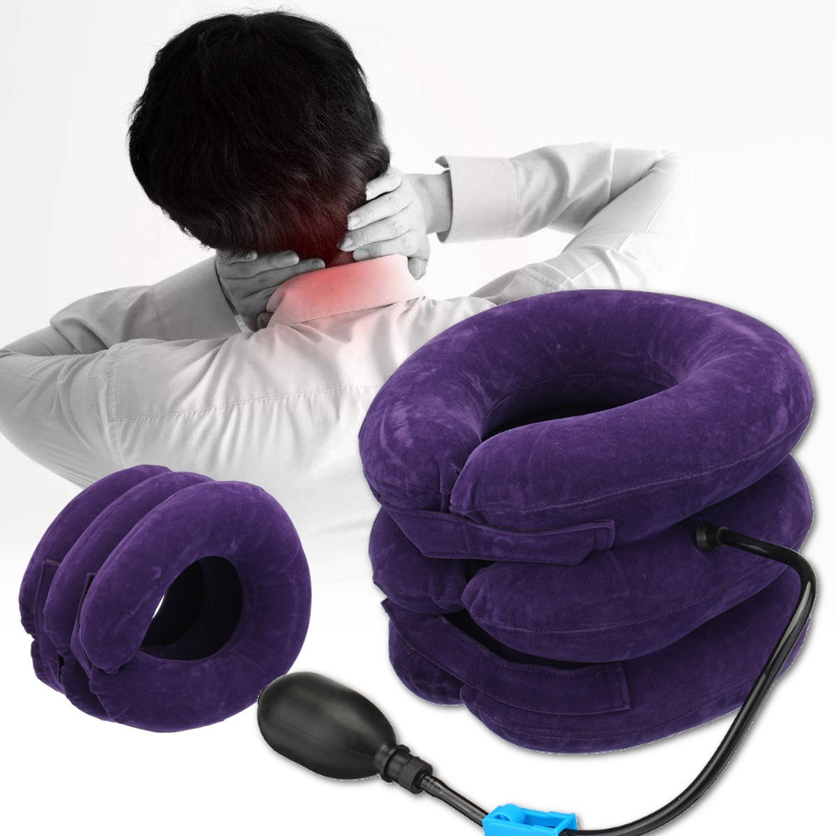 Portable Inflatable Neck Relief Traction Brace Support