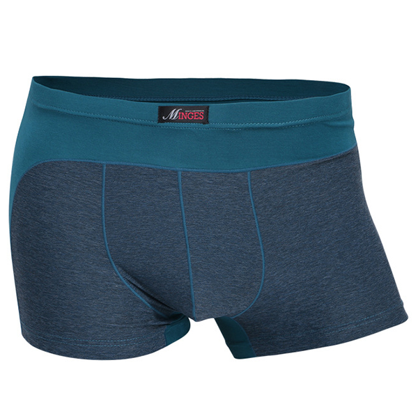 Mens Stitching Color Casual Breathable Antibacterial Modal Soft Boxer Briefs