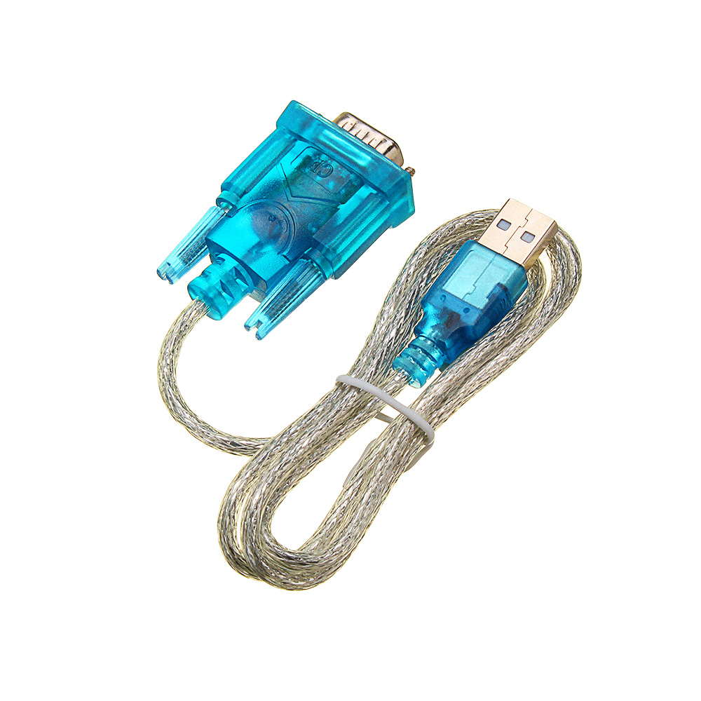 3Pcs Translucent USB To RS232 Serial 9 Pin Converter Cable Adapter