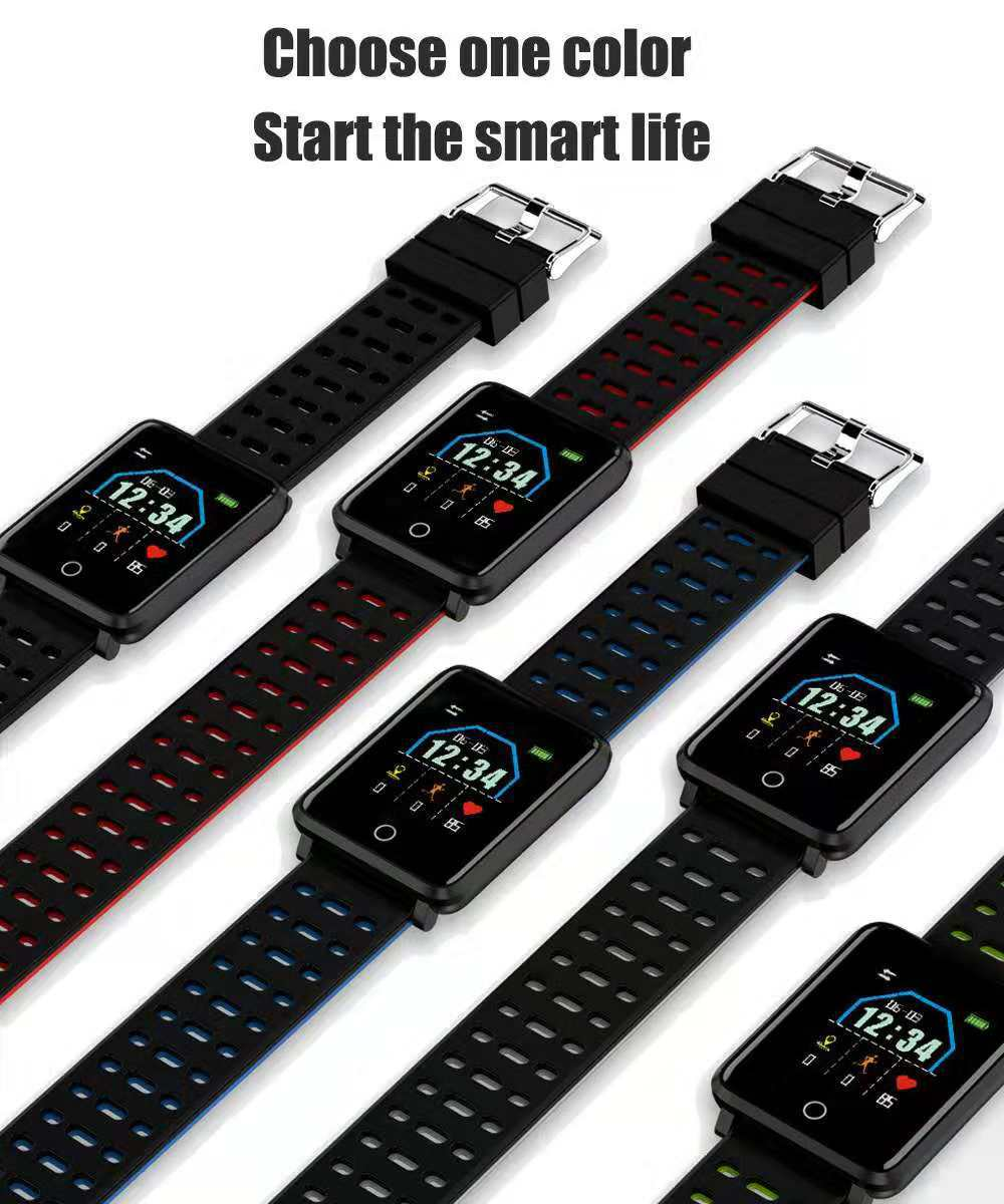 XANES F21 1.44'' TFT Color Touch Screen Smart Watch Heart Rate Blood Pressure Monitor Pedometer Fitness Sport Smart Bracelet