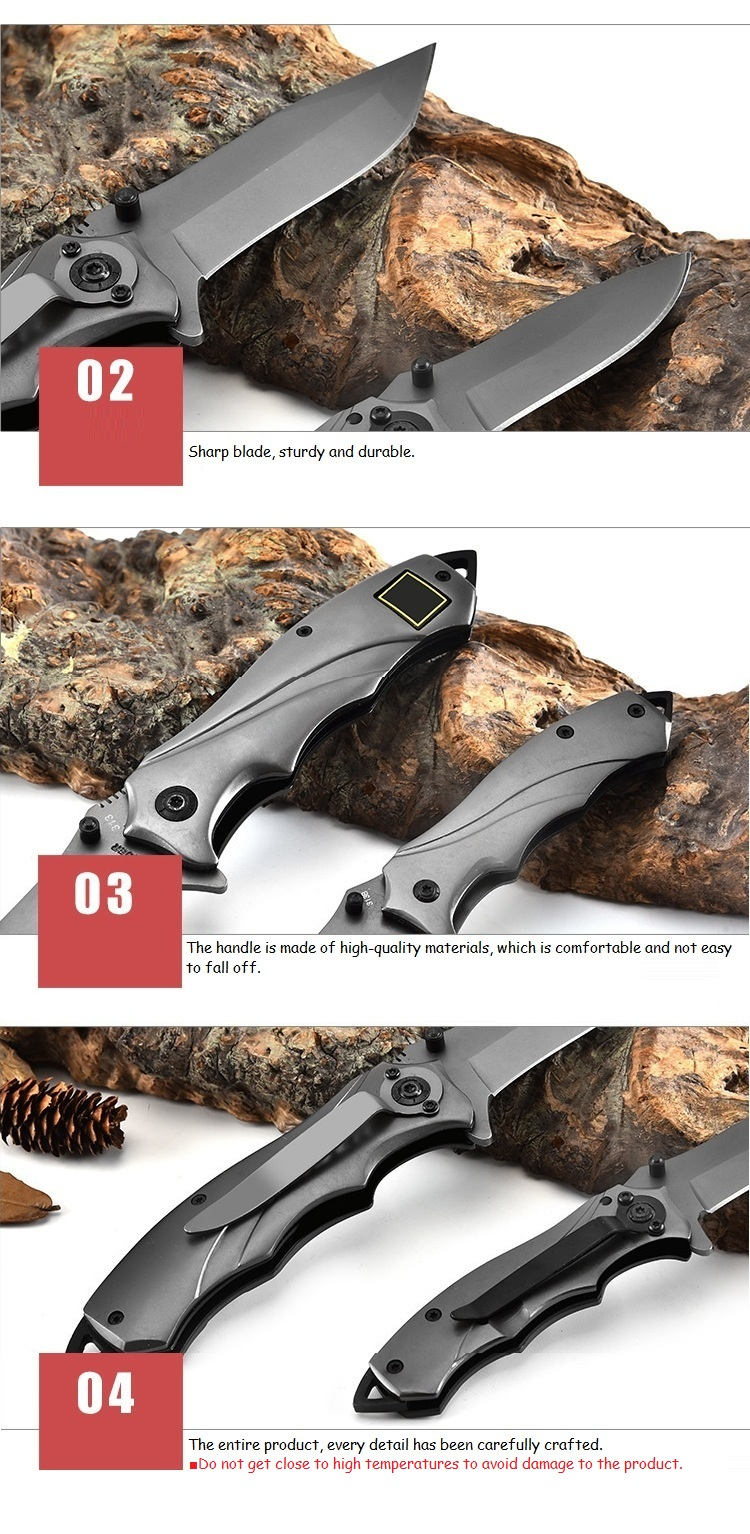 LAOTIE 313 160/205mm Stainless Steel EDC Folding Blade Outdoor Survival Tools Kit Sport Hiking Climbing Tools