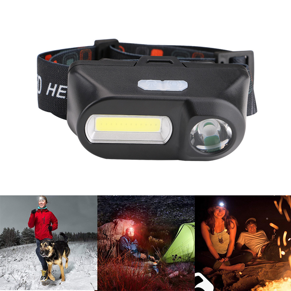 XANES 700LM XPE+COB LED HeadLamp USB Interface Waterproof Outdoor Camping Hiking Cycling Fishing Light