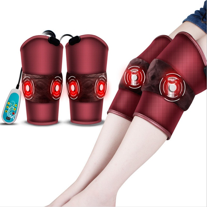 Electric Heating Vibration Knee Leg Arm Massager Therapy Pad
