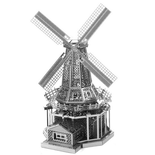 Aipin DIY 3D Puzzle Stainless Steel Model Kit Dutch Windmill