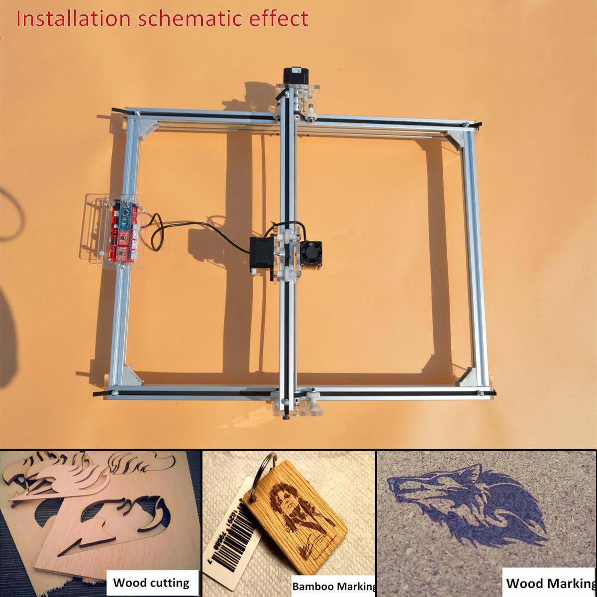 2500mW Laser Engraving Machine DIY Logo Cutting Marking Wood Printer 40X50CM Engraving Area