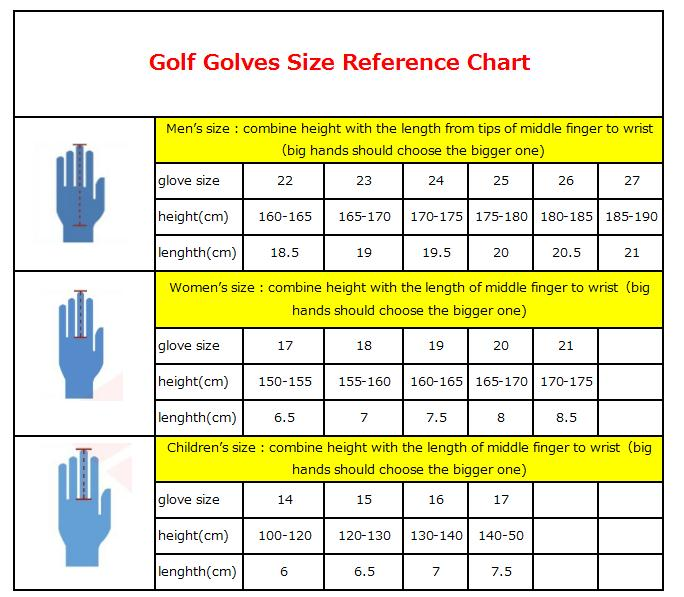 PGM Men's Left Hand Soft Breathable Micro Fiber Golf Glove Golf Accessories