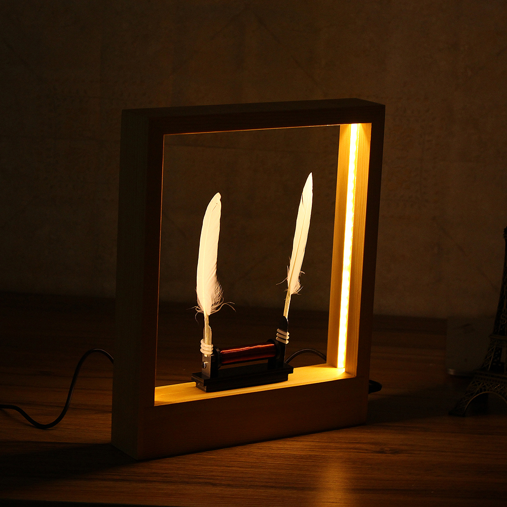 Light Time Motion Art Photo Frame LED Optical Sculpture Desktop Magic Modern Decorations