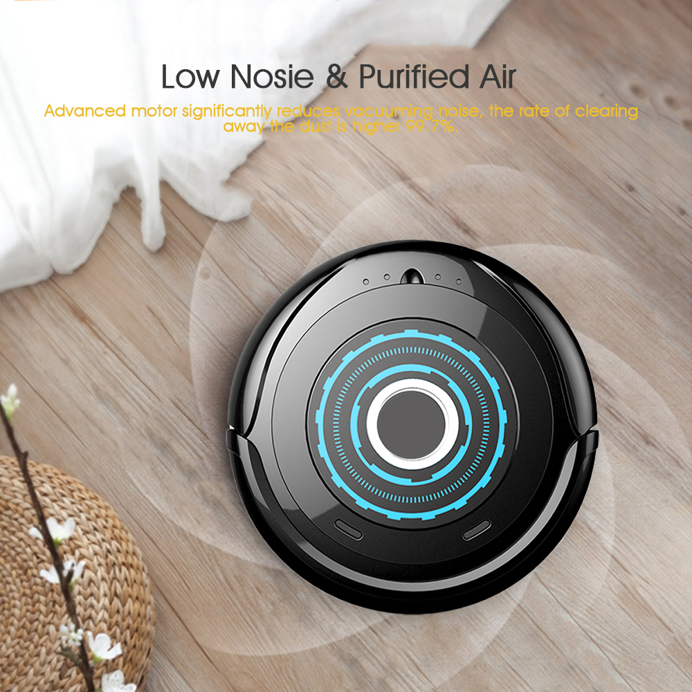 Holmark Home Automatic Smart Robot Vacuum Cleaner Auto Cleaner Sweeper 500Pa 2200mAh