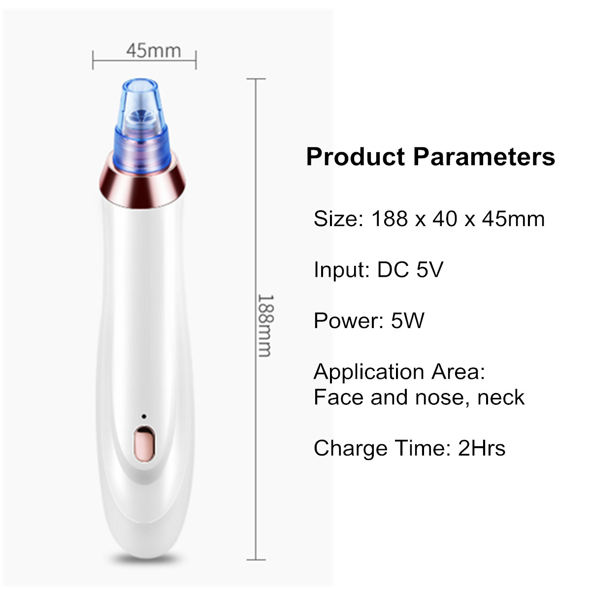 USB Electric Facial Vacuum Blackhead Remover
