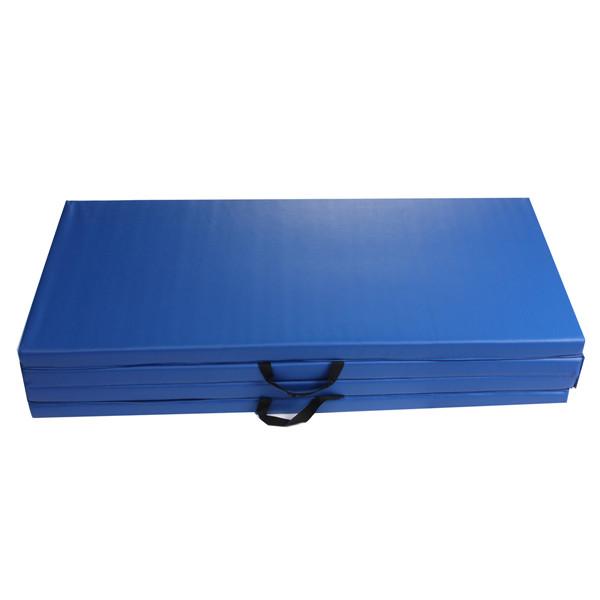 120cm*240cm*5cm Yoga Mat Folding Gymnastics Gym Exercise Mats Stretching Black Blue