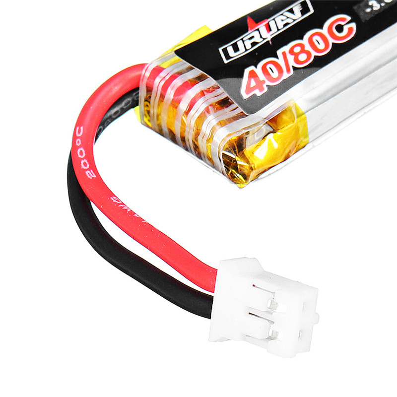 10Pcs URUAV 3.8V 250mAh 40C/80C 1S Lipo Battery PH2.0 for Eachine US65 UK65 QX65 URUAV UR65 Mobula7