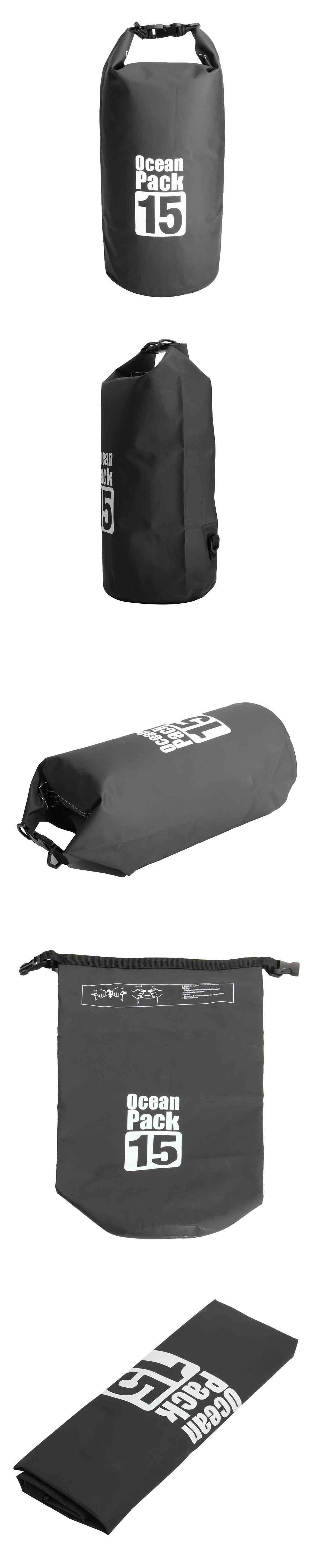 15L Waterproof Dry Bag Sack Boating Sailing Rafting Canoe Kayak Pouch