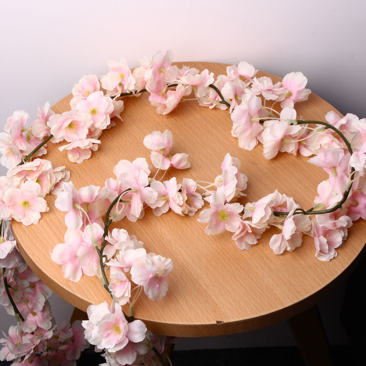 Artificial Silk Cherry Blossom Flower Hanging Vine Garlands Home Wedding Decorations