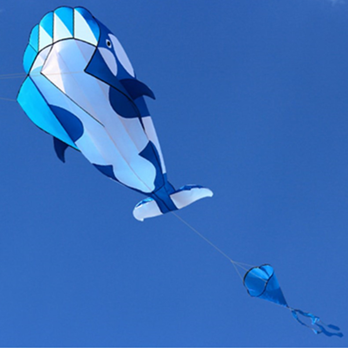 Whale Kite Single Line Stunt Kite Outdoor Sports Toy Children Kids