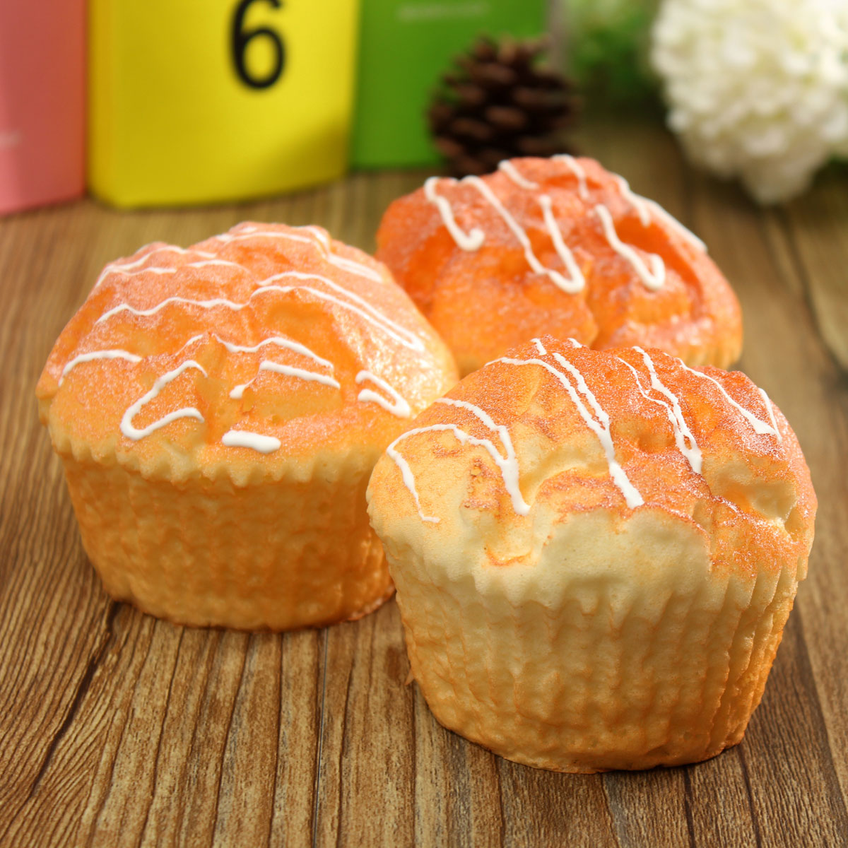Muffin Cup Cake Squishy Super Soft Bun Gift Cafe Decoration