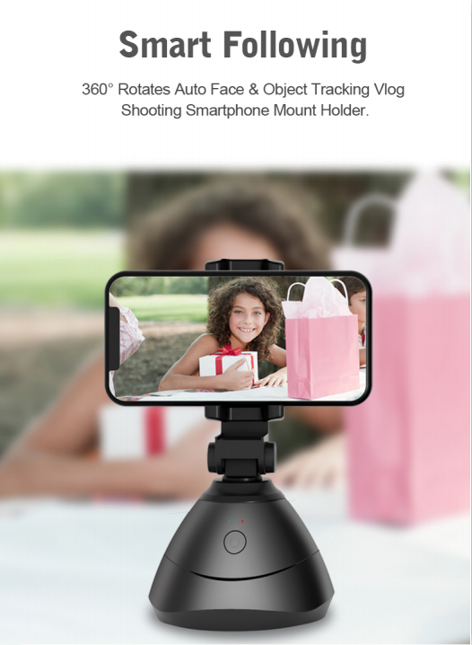 360° Face Tracking Gimbal Auto Smart AI Holder Live Broadcast For Vlog Video Recor Selfie Shooting Smartphone Selfie