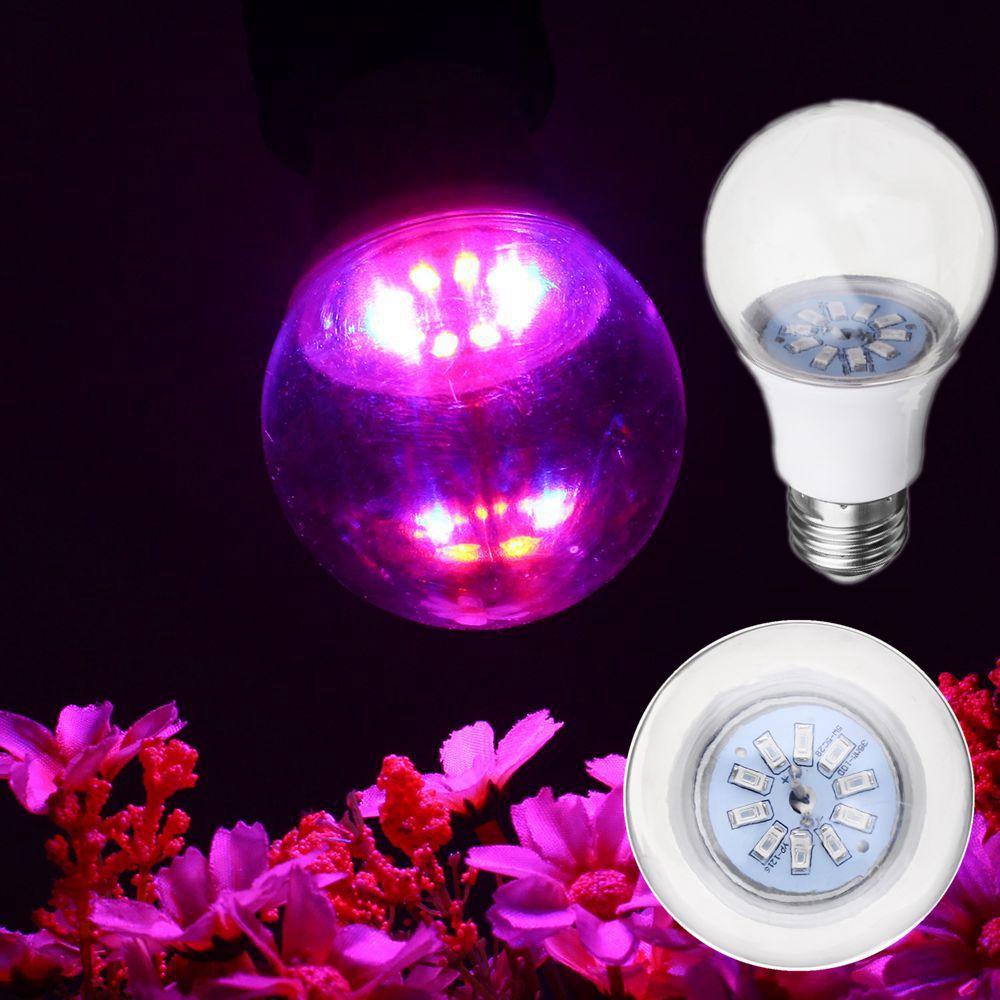 5W E27 5730 Full Spectrum 10 LED Grow Light Bulb Reb:Bl