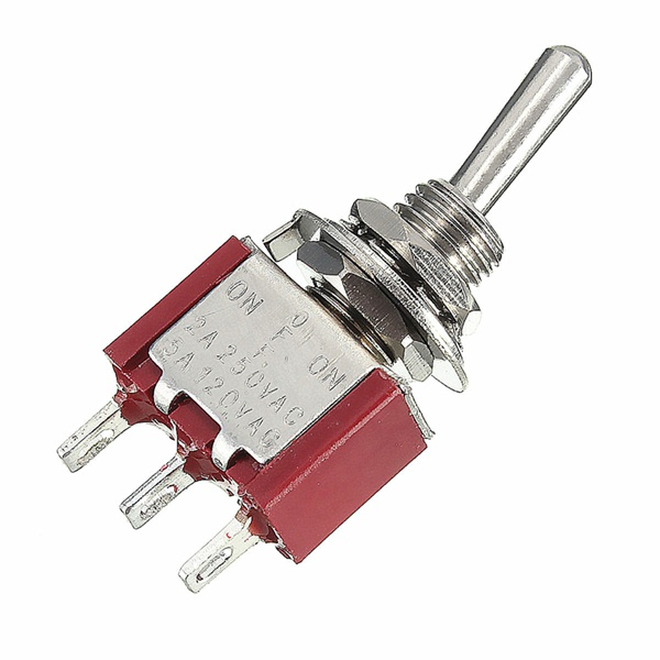 Toggle Switch MTS-123 3 Pin SPDT ON/OFF/ON 3 Position Momentary