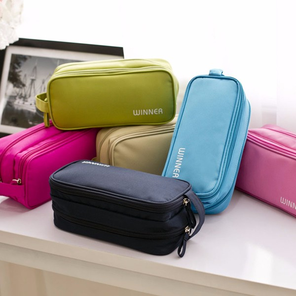 Waterproof Double Layer Cable Storage Bag Electronic Organizer Gadget Travel Bag USB Earphone Case
