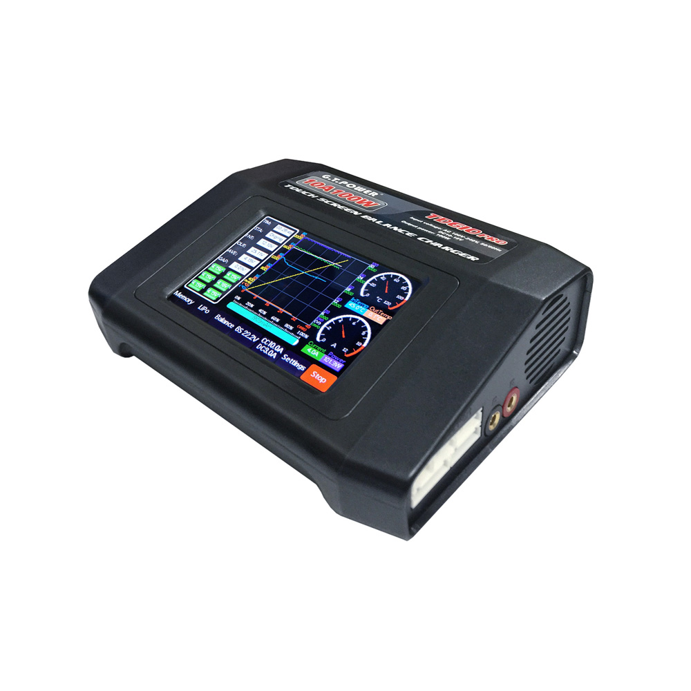 G.T.Power TD610 PRO 100W 10A AC/DC Touch Screen Battery Charger Discharger