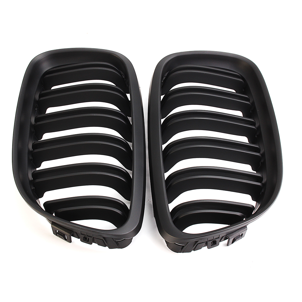 Pair Kidney Front Grille Grill Matt Black For BMW 3 Series E90 E91 2009-2011