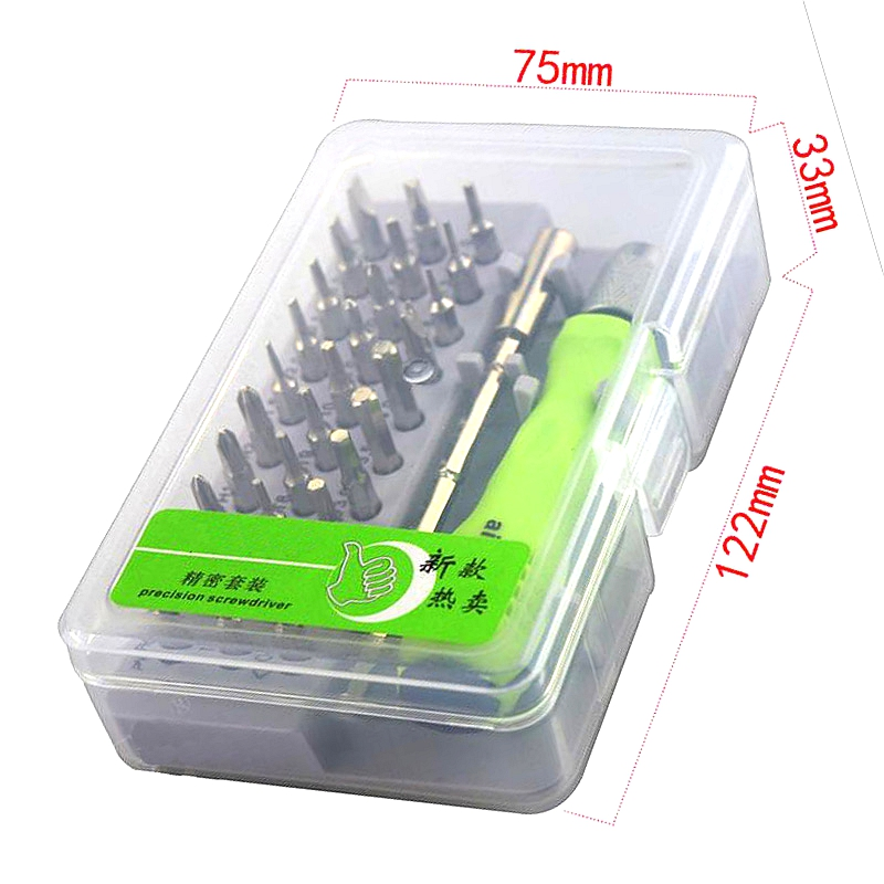 32 in 1 Precision Screwdriver Set Magnetic Screwdriver Set Phone Mobile iPad Camera Maintenance Tool Phillips Slotted Torx Hex Triangle Screwdriver