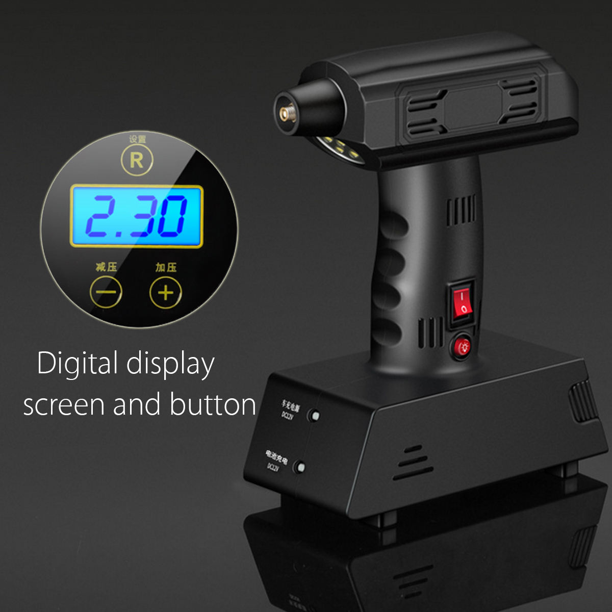 Portable 12V Cordless Electric LCD Air Compressor Pump Ball Car Tyre Inflator