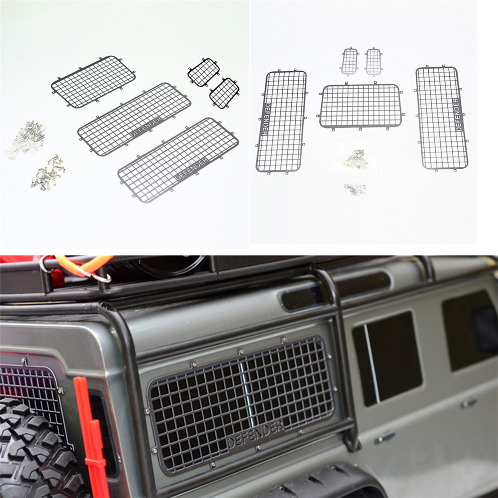 5PCS 1/10 RC Car Crawler Stainless Steel Windows Guard for Traxxas TRX-4 TRX4