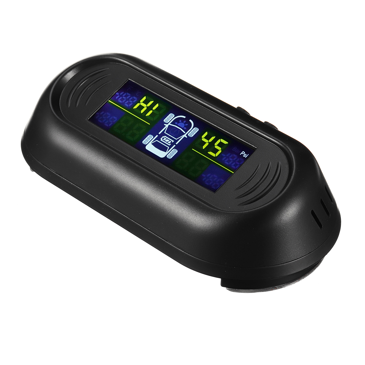 Solar Power Auto TPMS Tire Pressure LCD Monitor System Wireless with 4 External Sensors
