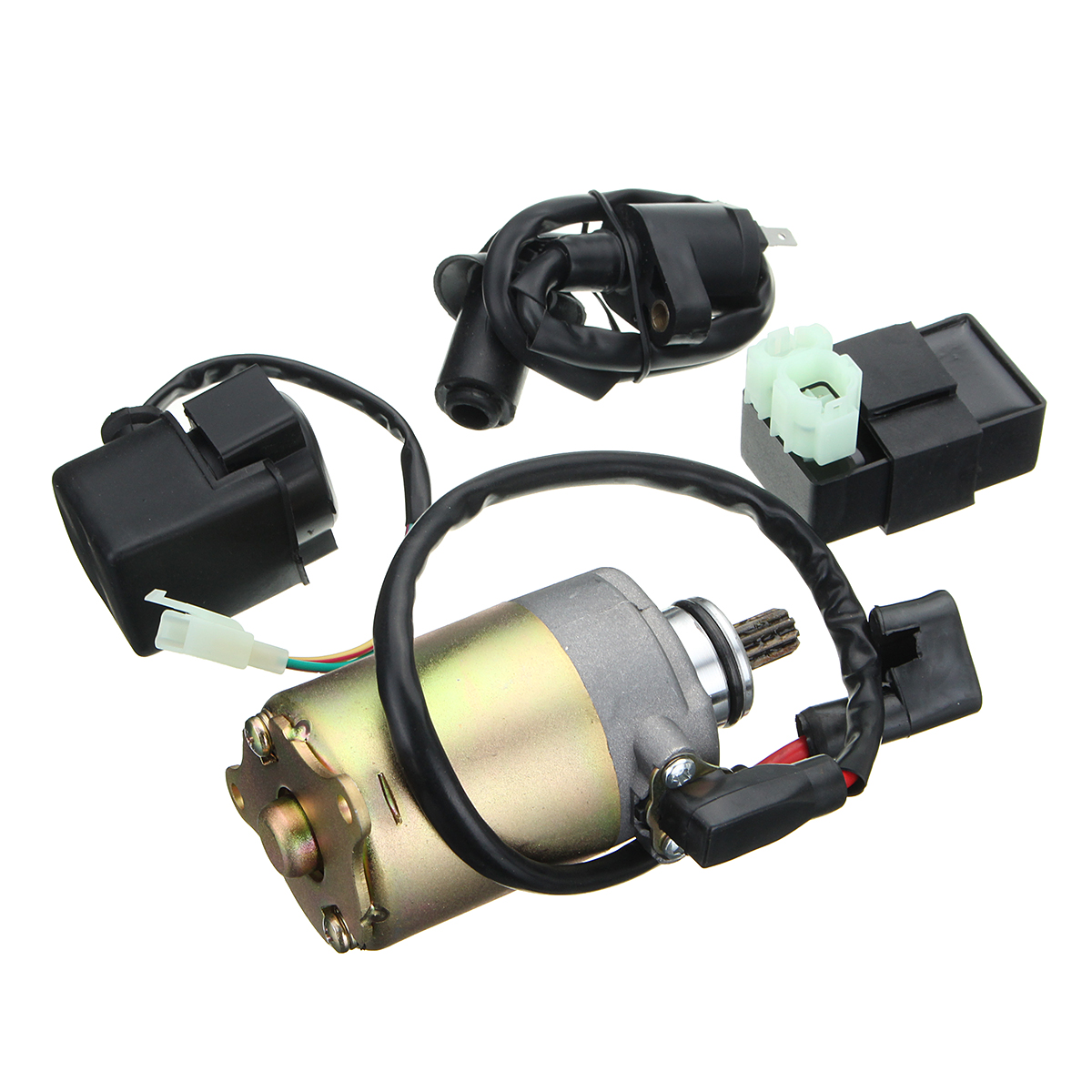 150cc Starter Motor+Ignition Coil+CDI+Relay Electrical Kit Hammerhead Twister For Golf Cart