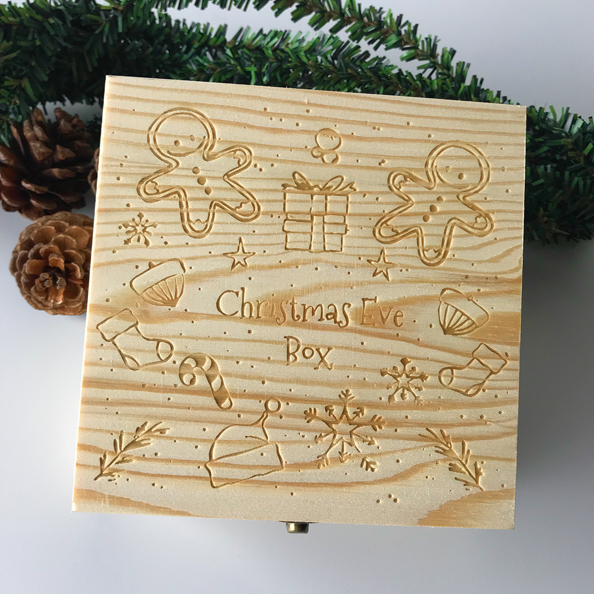 Christmas Ornament Wooden Gift Box Toys