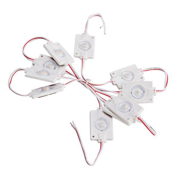 10 X 12v Led Loading Interior Light Kit With Lens For Lwb Van