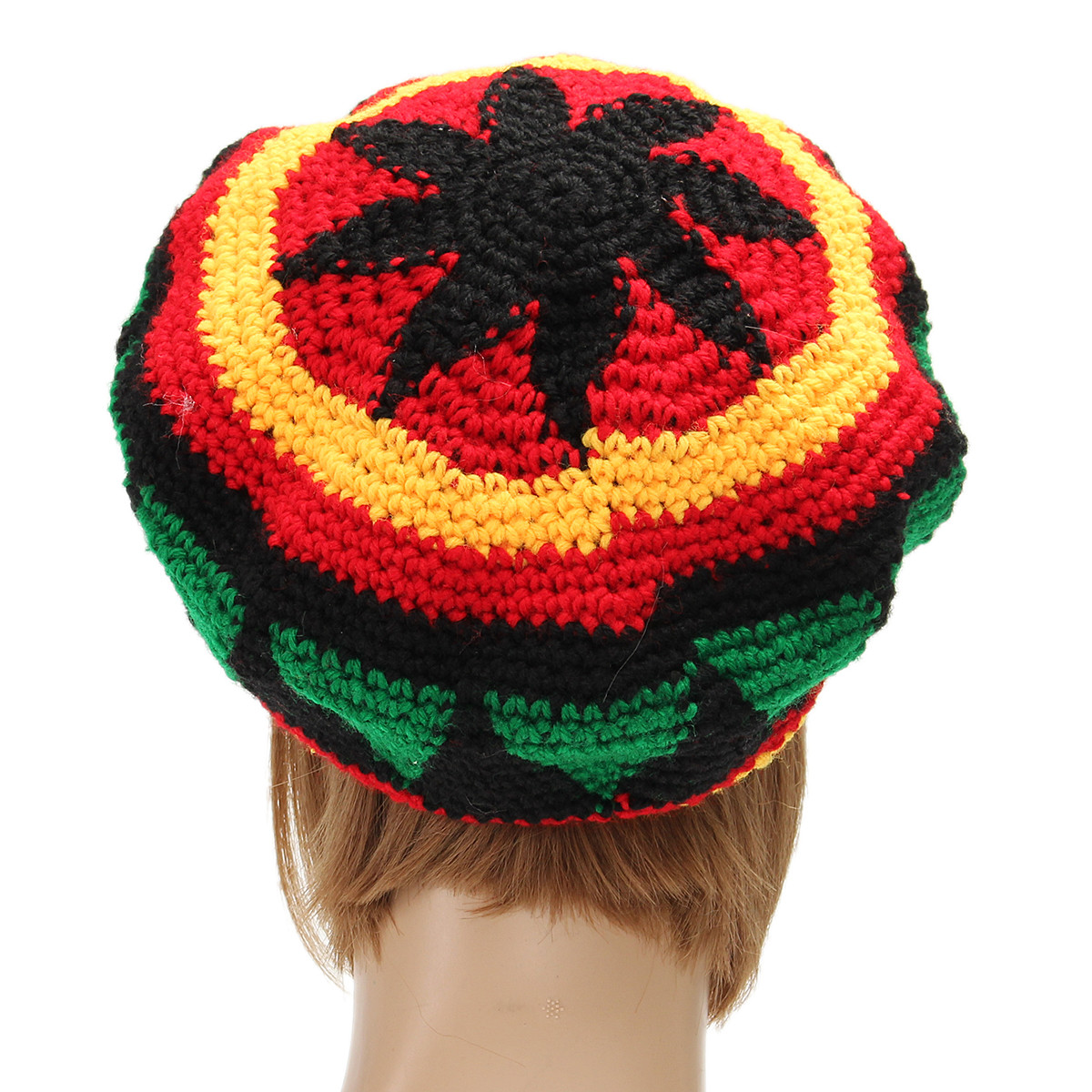 Women Wool Fake Dreadlocks Hat Christmas Day Hand Crochet Beret Cap Colorful Spoof Topper