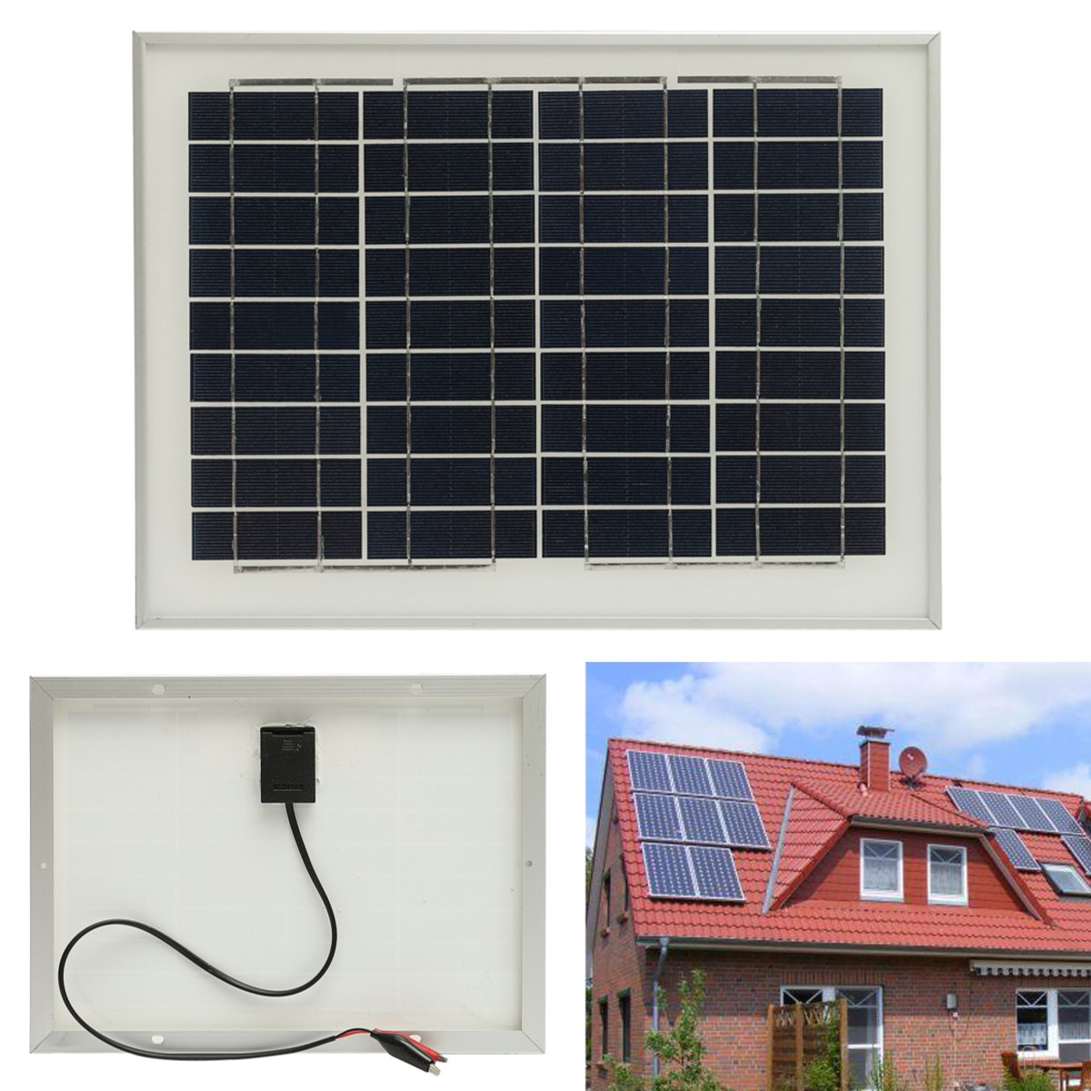 18V 10W Solar Panel For Outdoor Fountain Pond Pool Garden Submersible Water Pump With Crocodile Thre